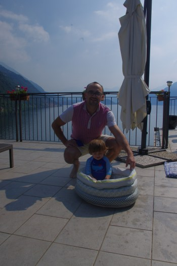Como Lake with kids