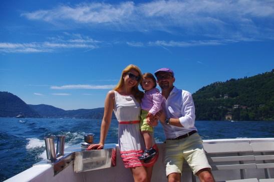Lake Como with toddler