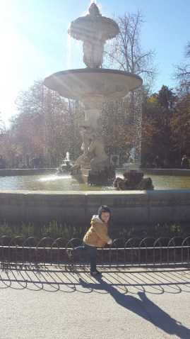 minibreak to Madrid with toddler : El Retiro