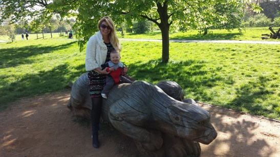 Regents Park London with toddler