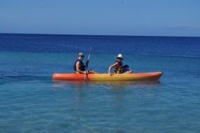 Kayaking in Grenadines - babymoon with toddler