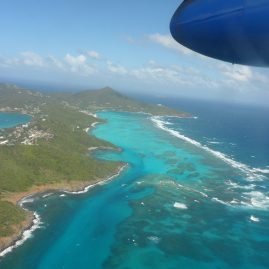 Dominica island air view