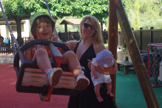 Greece with toddler and baby - Sani beach