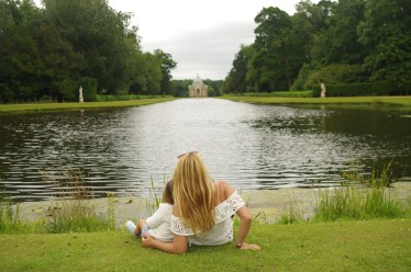 Wrest Park with kids: the lake - English Heritage days out