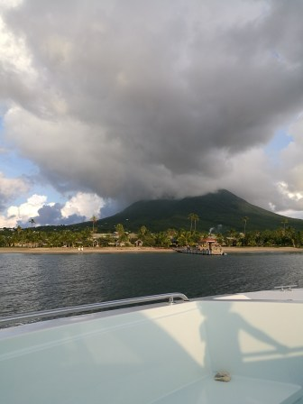 Volcano view from the water taxi