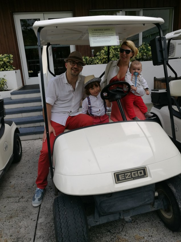 Four Seasons Nevis: the buggy driving