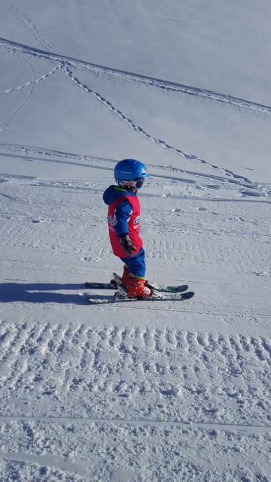 Tignes with kids 3 years old skiing