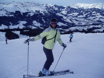 Ski with baby is possible ! Some good slopes Kitzbuhel in here