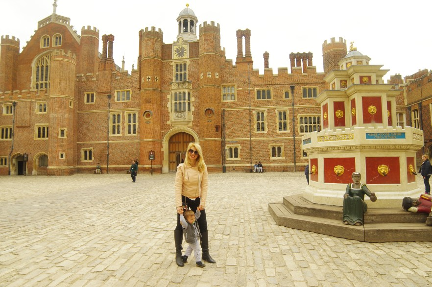Hampton Court with kids