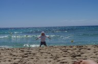 Cala Tarida with kids