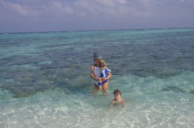 Maldives with toddler and child