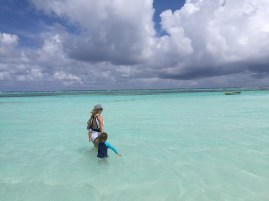 Christmas in Maldives with toddler