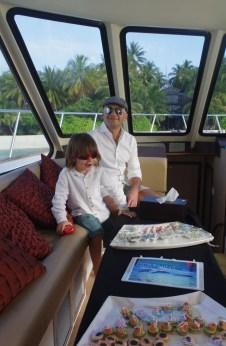 Awesome Maldives activities - Banyan Tree sunset cruise - canapes