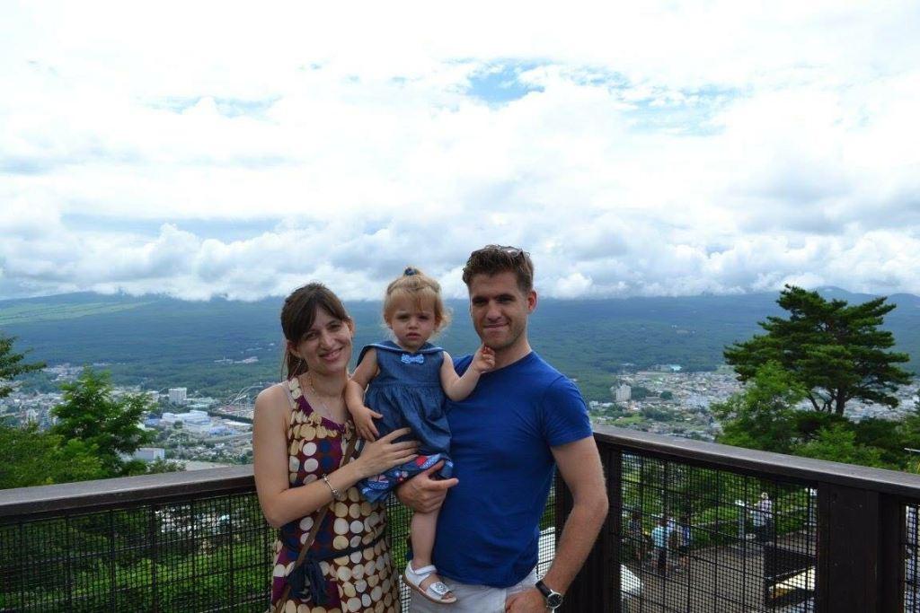 Babymoon in Japan - mount Fuji hiding in the clouds