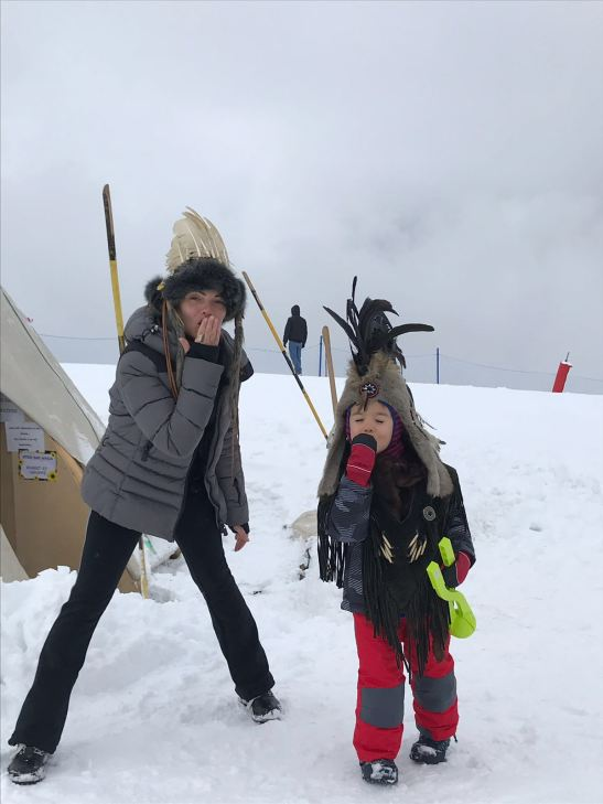 top things to do in Courchevel with kids: Indian camp