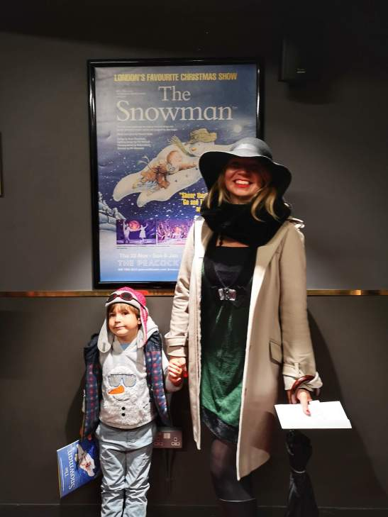 Christmas shows for kids London : The Snowman Peacock Theatre