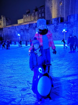 Tower of London iceskating with kids