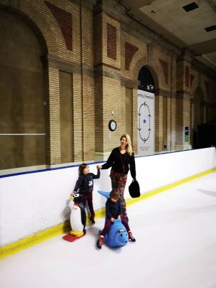 Ally Pally ice skating with kids