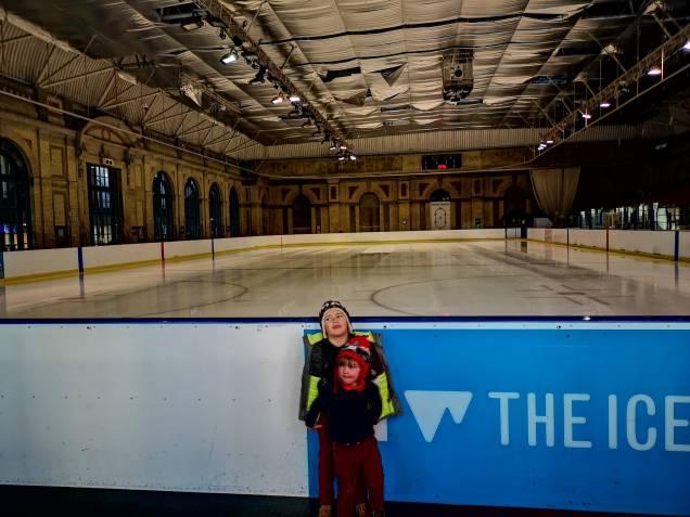 Alexandra palace ice skating with kids
