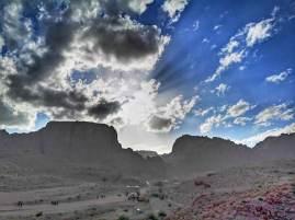 Petra at sunset