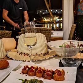 Es Castell Menorca dinner bravas & pedron