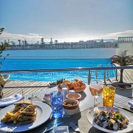 Heure Bleu rooftop lunch