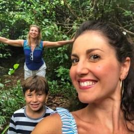 Trekking Kempinski Seychelles mountain with kids