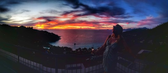 Seychelles fine dining scene and dramatic skies - THANK YOU!
