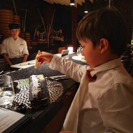 Seychelles fine dining with kids at KOI