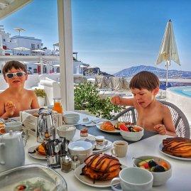 Aqua Imerovigli breakfast