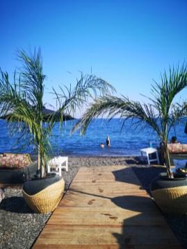 Seaside Santorini - our favourite beach bar
