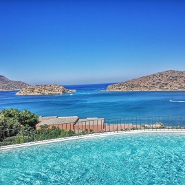 Stunning views over the Aegean and Spinalonga island