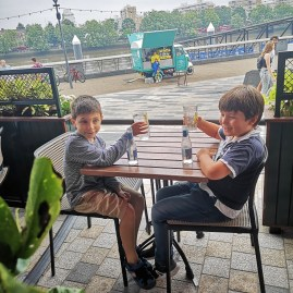 Birthday lunches with kids: Battersea Power Station