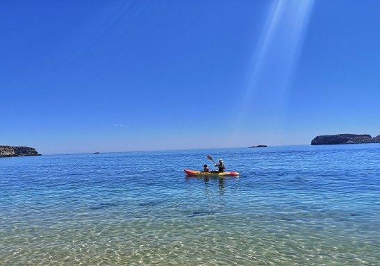 Kayaking in Sagres