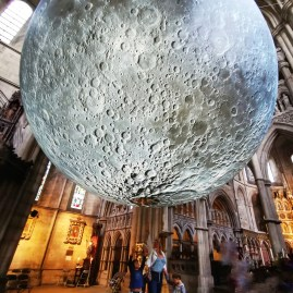 Luke Jerram's moon came to our street!