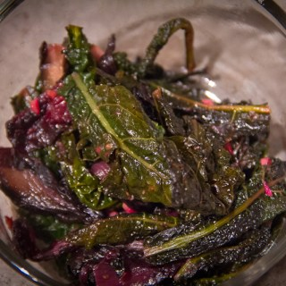 Braised Winter Greens with Garlic & Blood Orange Redux