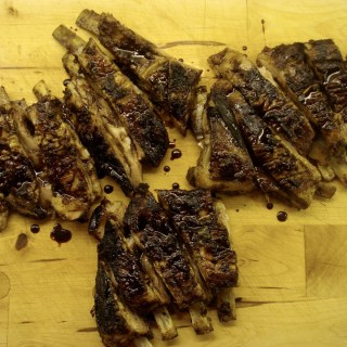 Pomegranate Glazed Lamb Riblets