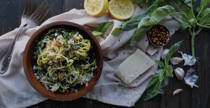 Zoodles with Kale and Lemon