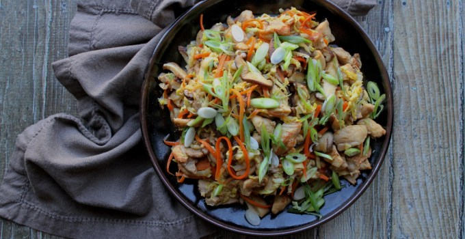 Gingery Chicken with Shiitakes and Cabbage