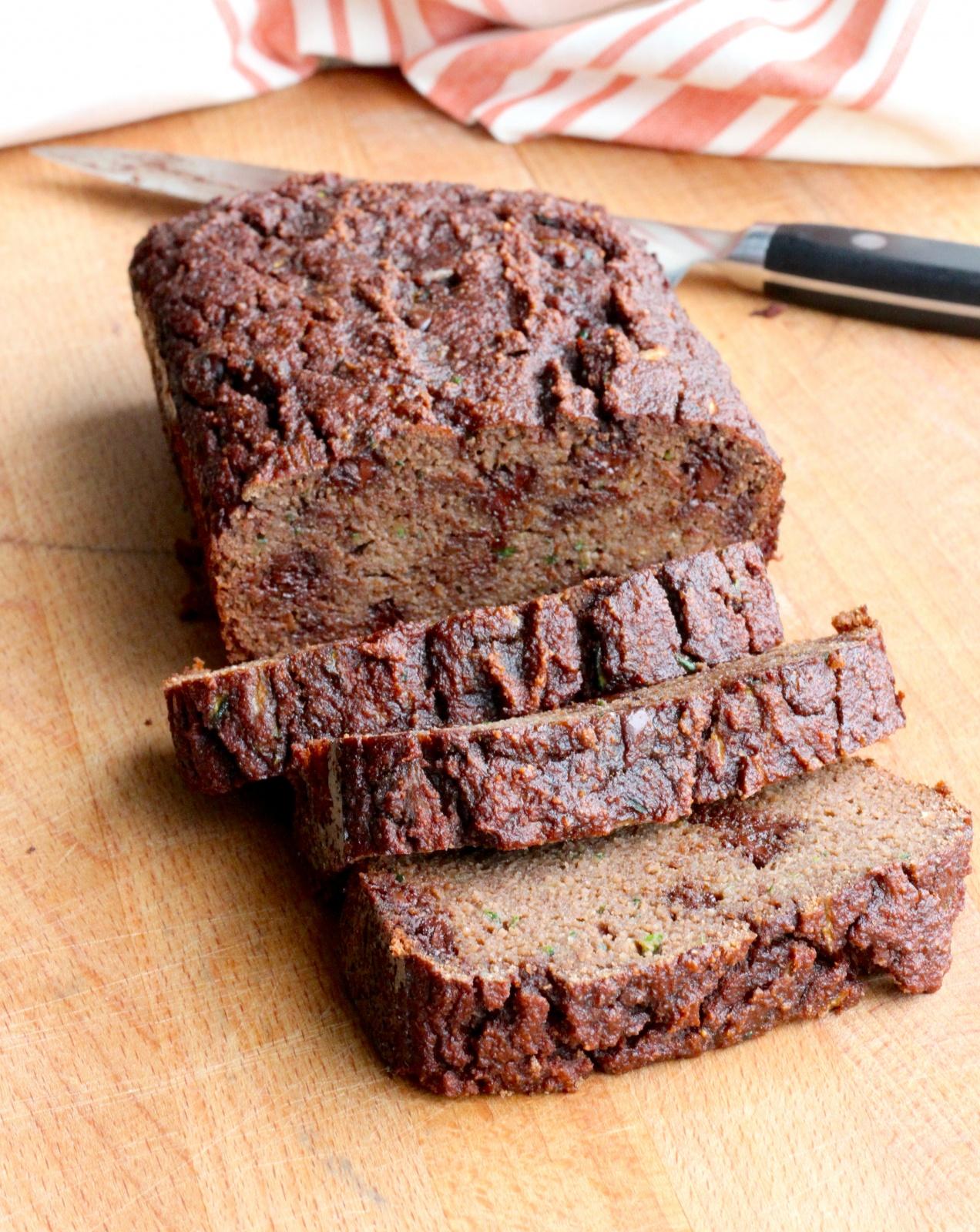 Almond Flour Chocolate Chip Zucchini Bread