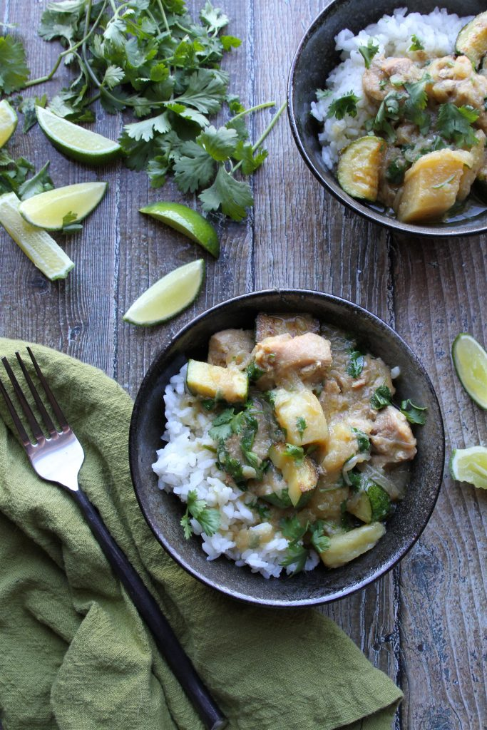 instantpot paleo green curry chicken