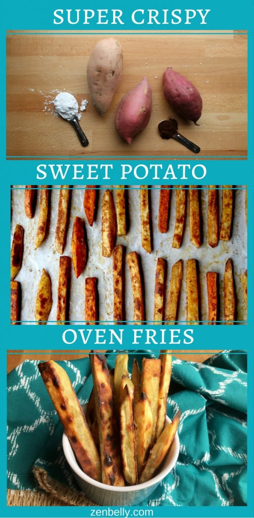 super crispy SWEET POTATO OVEN FRIES