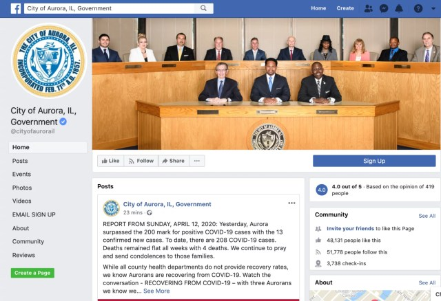 aurora government facebook