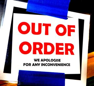 saying sorry out of order