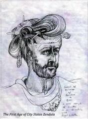 bres - horsham battle weary bronze head arcadian art