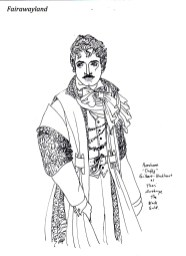 daffy as the black eald in lavish regalia for movie