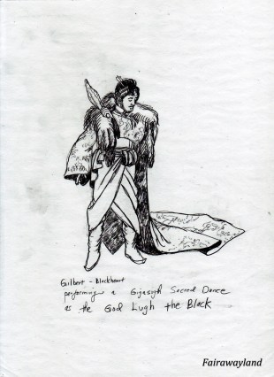 lugh the black prehistoric god performed by daffy gilbert blackheart
