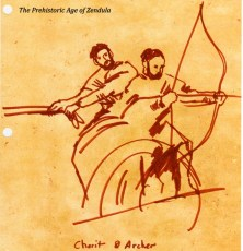 prehistoric era warfare chariot and archer elvish art