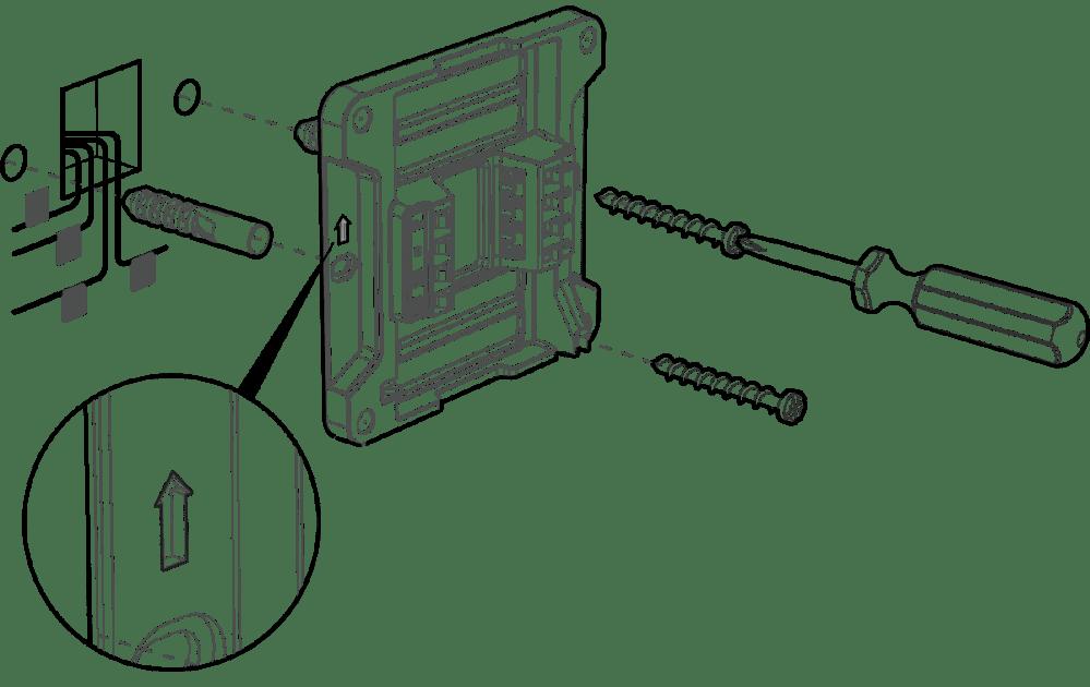 medium resolution of attach the wall mount