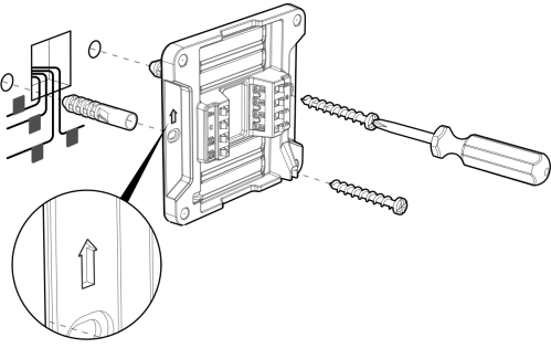 small resolution of attach the wall mount